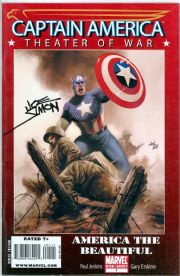Captain America Theater Of War #1 Dynamic Forces Signed Joe Simon DF COA Ltd 25 Marvel comic book